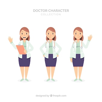 Three different female doctor characters