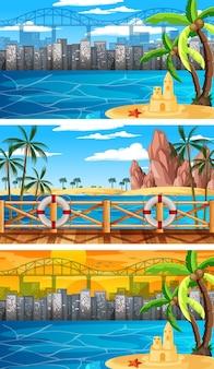 세 가지 자연 가로 장면