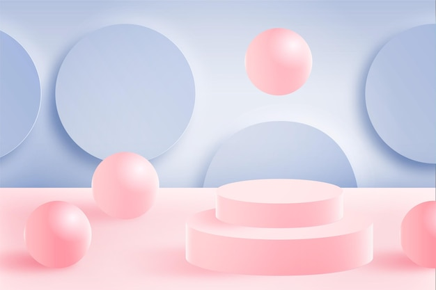 Three-dimensional abstract scene background