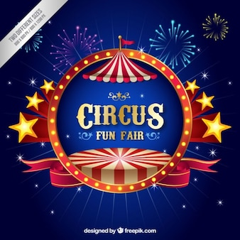 Three dimensional circus background