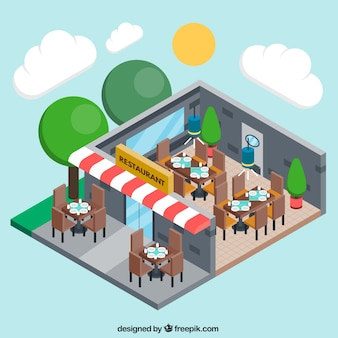Three dimensional restaurant