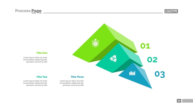 Three elements strategy slide template