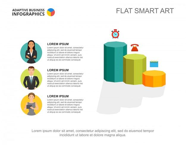 Три шаблона диаграммы предпринимателей для презентации