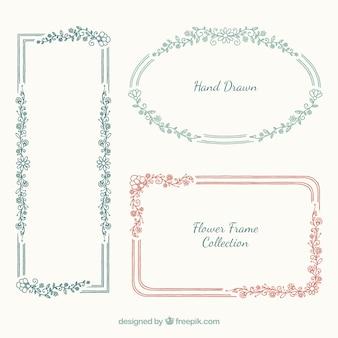 Tre cornici floreali