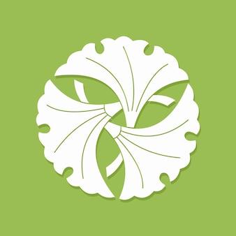 Три цветка белые плоские simlpe вектор illustraton