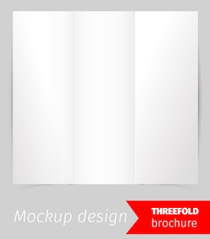 Three fold brochure mockup design