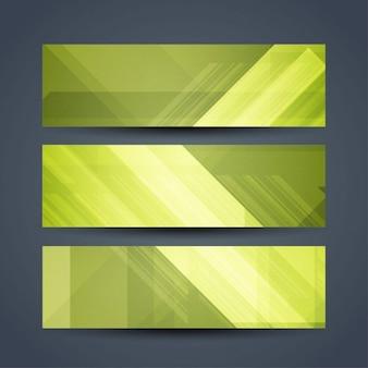 抽象的な緑の色現代のバナー