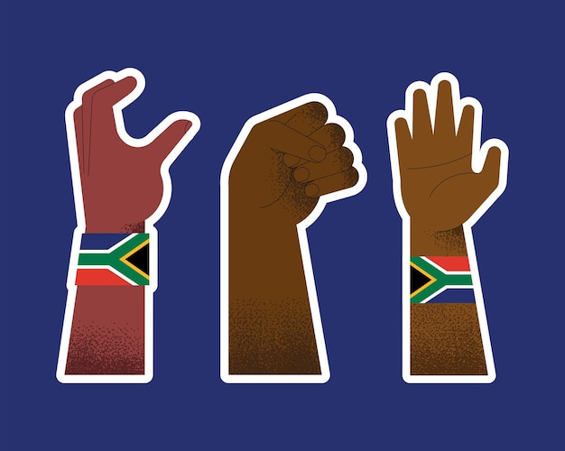 Three heritage day set hands