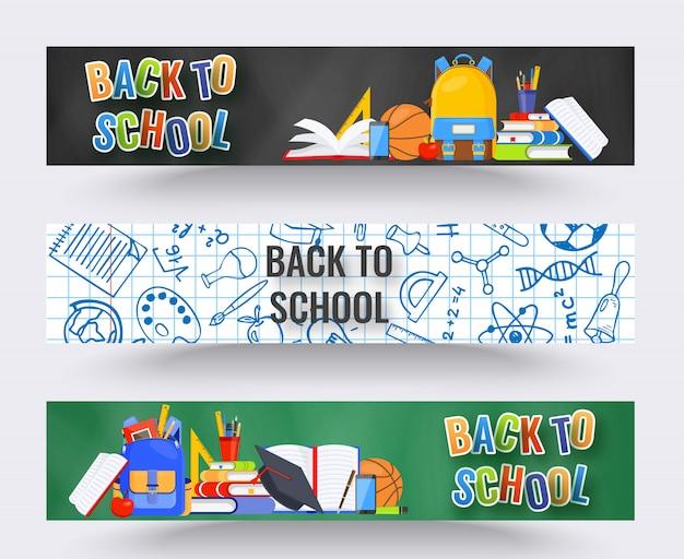 Three horizontal back to school banners.