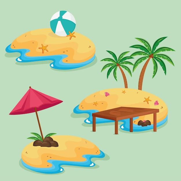 Сцены с тремя островами