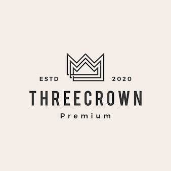 Three king crown  vintage logo