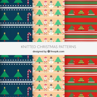 Three knitted christmas patterns