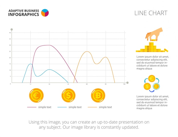Three line diagrams slide template