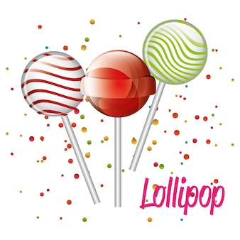 Three lollipop