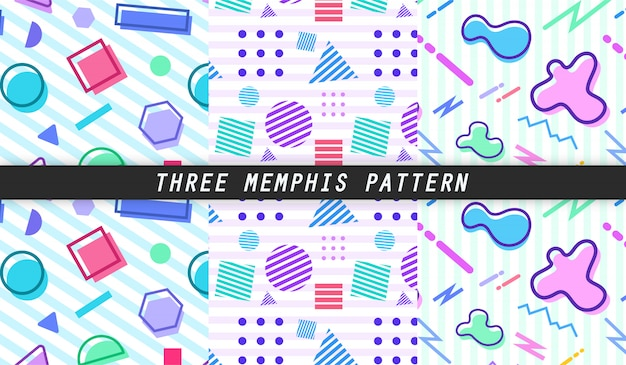 Three memphis pattern