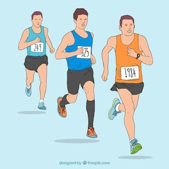 Three men running collection