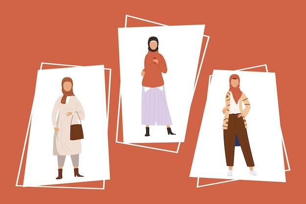 Three muslim community women group