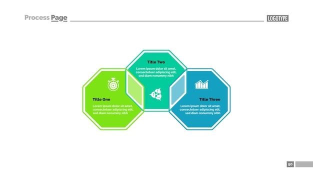 Three octagons strategy slide template