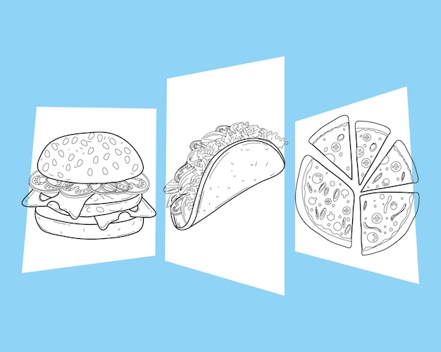 Три однострочных набора продуктов