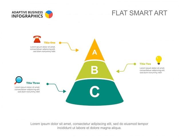 Three options cone slide template