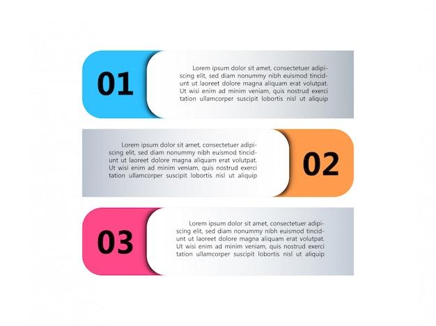 Три варианта инфографики элементов