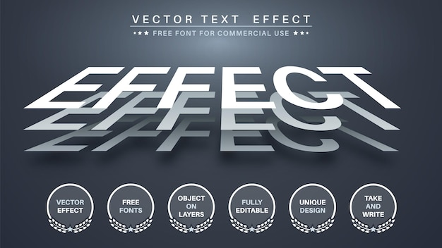 Three paper  edit text effect editable font style
