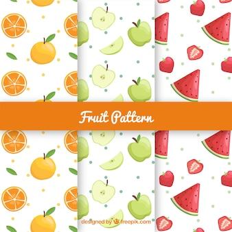 맛있는 과일과 함께 세 가지 패턴