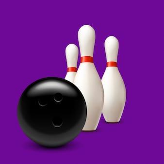 Three pins and ball