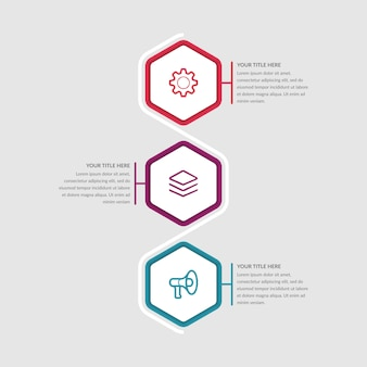 Three points infographic element business strategy