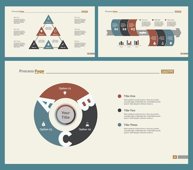 Three recruitment slide templates set