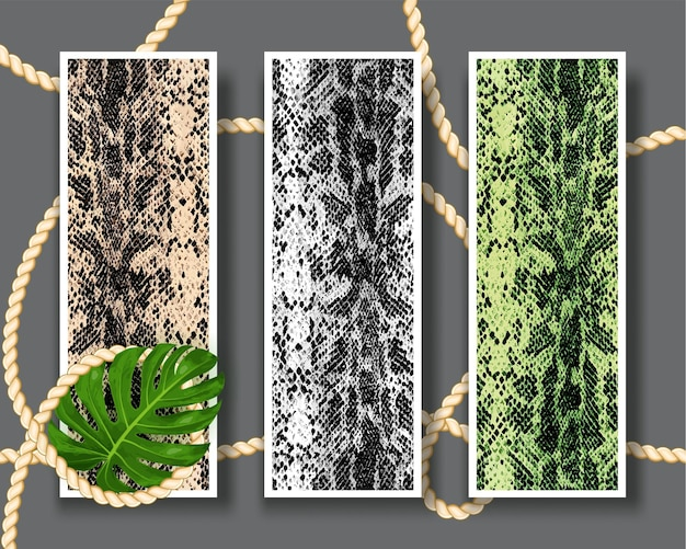 Three shameless snake skin pattern texture