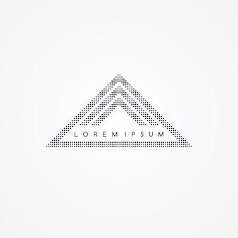 3つのサイドトライアングルテーマドットロゴ