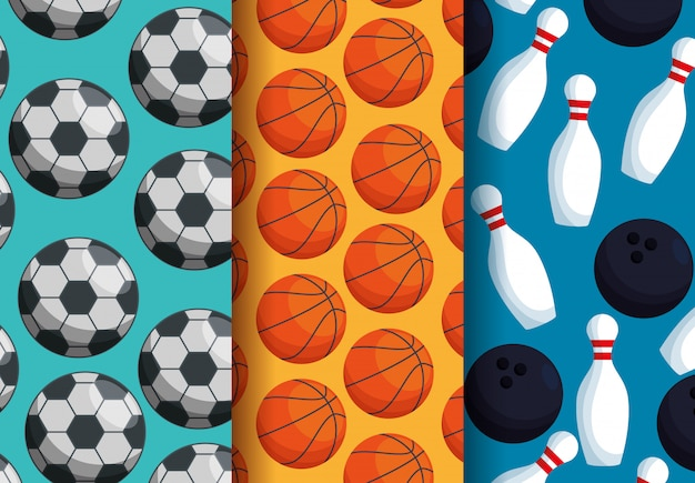 Three sports patterns