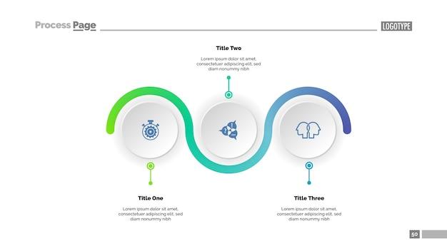 Шаблон технологической карты с тремя шагами