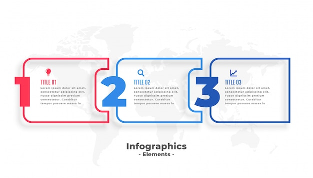 Three steps business infographics presentation template