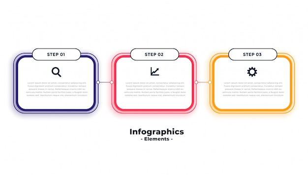 Three steps business infographics template