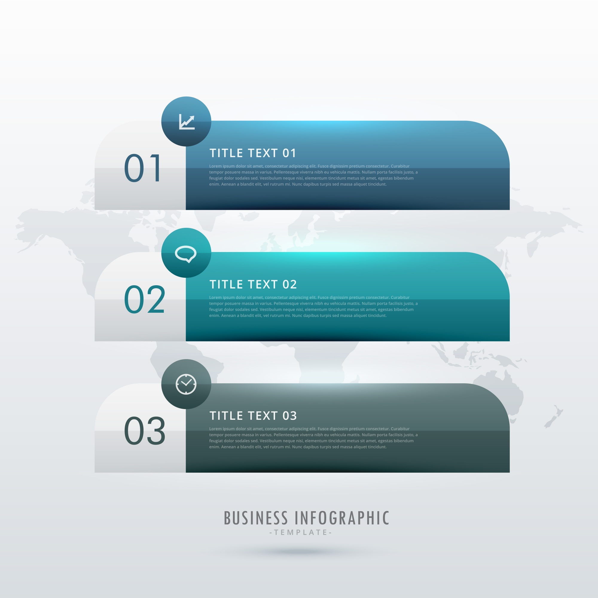 Three steps infographic template for your business presentation