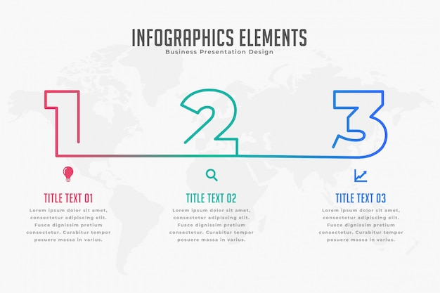 Three steps infpgraphic timeline template