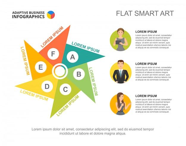 Три шага шаблона диаграммы процесса. бизнес-данные. абстрактные элементы диаграммы