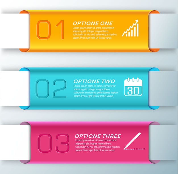 Three stylish horizontal orange light blue and orange banner set for presentation illustration