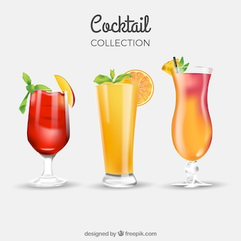 Three summer drinks
