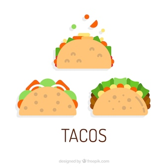 Three taco vectors