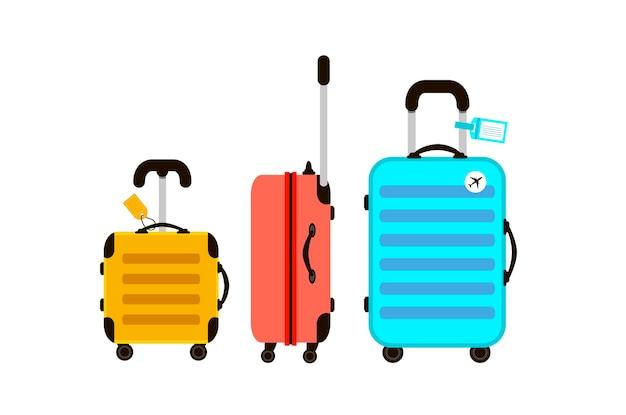 3つの旅行スーツケースのイラスト