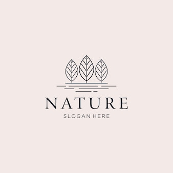 Three trees nature logo