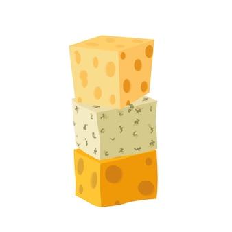 Three types of cheese