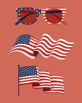 미국 독립 3종 세트 아이템