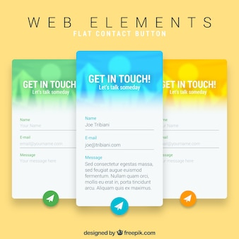 Three web contact banners