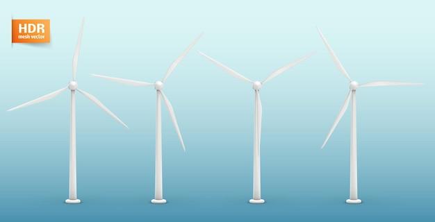Три ветряные турбины