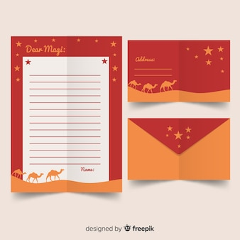 Three wise men letter template