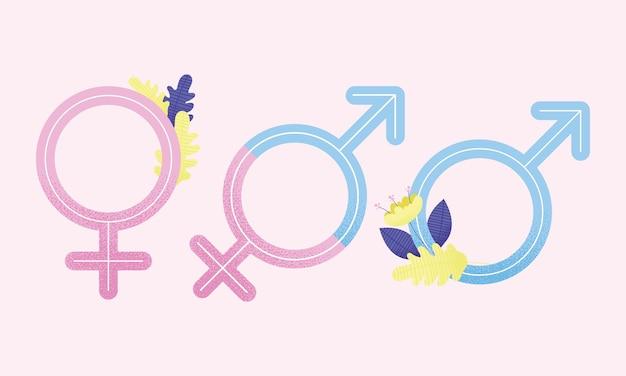 Three world sexual health day symbols